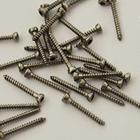 Screws for fixing bone blocks